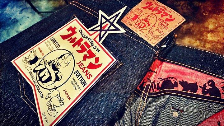 """【ミナトガワラヂヲ】限定コラボ  """"studioD'artisan"""" ULTRAMAN jeans 登場!"""
